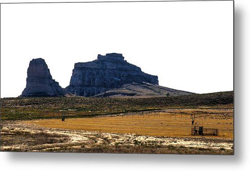 Western Nebraska Metal Print featuring the photograph Jailhouse Rock And Courthouse Rock by Edward Peterson