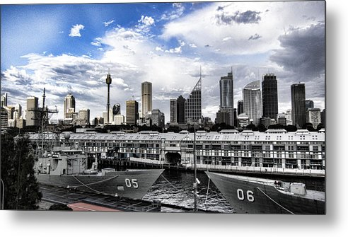 Frigates Metal Print featuring the photograph Naval Security by Douglas Barnard
