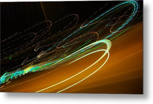 White Metal Print featuring the photograph Neon Signature by Michele Stoehr