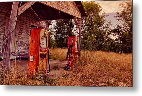 Gas Photographs Metal Print featuring the photograph Old Gas Station 2 by Jon Herrera