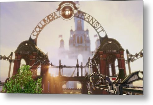 Bioshock Infinite Metal Print featuring the digital art Bioshock Infinite by Dorothy Binder