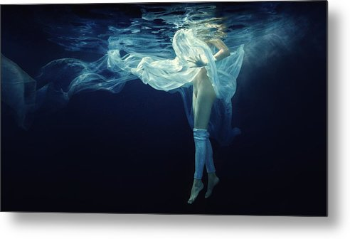 Girl Metal Print featuring the photograph Light And Darkness 1 by Dmitry Laudin