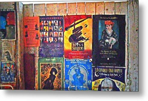 Gershwin Metal Print featuring the pyrography Poster Board by Cyryn Fyrcyd