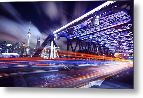 Time-lapse Metal Print featuring the digital art Time-lapse by Dorothy Binder