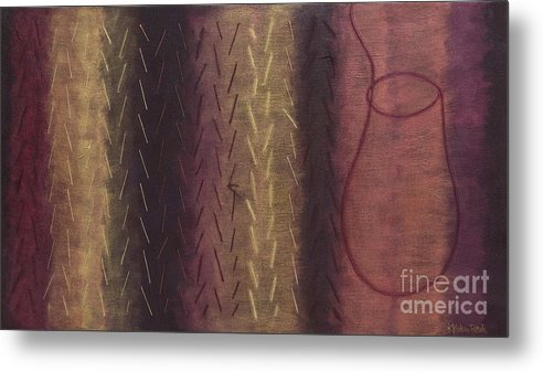 Acrylic Metal Print featuring the painting Embodiment - Divine Source by Kerryn Madsen- Pietsch
