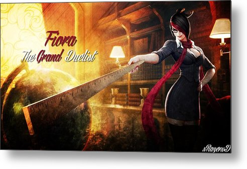 League Of Legends Metal Print featuring the digital art League Of Legends by Dorothy Binder