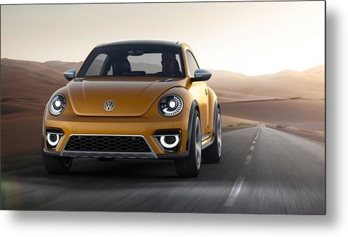 2014 Volkswagen Beetle Dune Concept Metal Print featuring the digital art 2014 Volkswagen Beetle Dune Concept by Dorothy Binder
