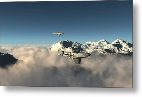 Aircraft Metal Print featuring the digital art Aircraft by Dorothy Binder
