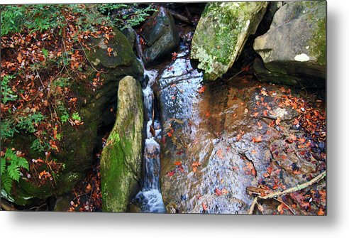 Waterfall Metal Print featuring the photograph 4 Faces In The Water by Donald C Leight Jr