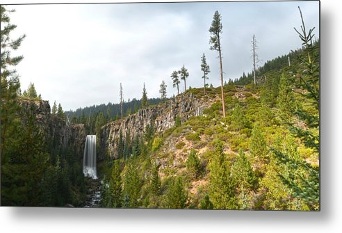 Waterfall Metal Print featuring the photograph Tumalo Falls by Ashlee Exum