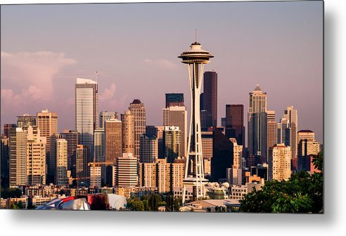 Architecture Metal Print featuring the photograph Seattle by Radek Hofman