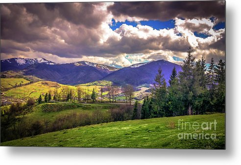Landscape Metal Print featuring the photograph The Land Of Ukraine by Lyudmila Prokopenko
