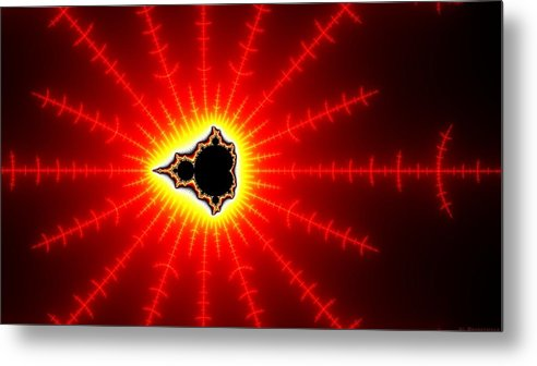Abstract Metal Print featuring the digital art Abstract by Dorothy Binder