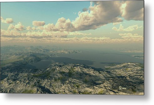 Bay Metal Print featuring the digital art Across The Bay by Julie Grace