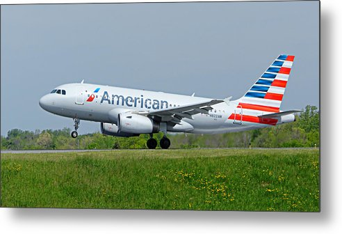 Airbus Metal Print featuring the photograph Airbus A319 by Guy Whiteley
