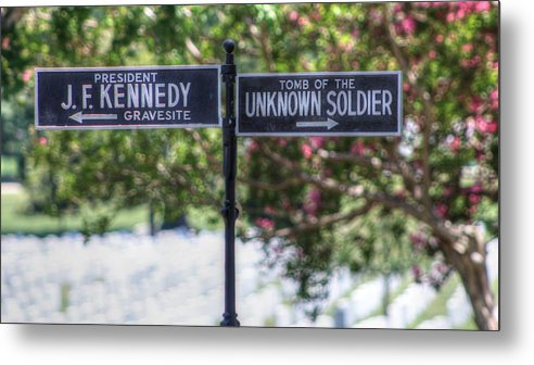 Arlington Cemetery Washington Dc Usa Metal Print featuring the photograph Arlington Cemetery Washington Dc Usa by Paul James Bannerman
