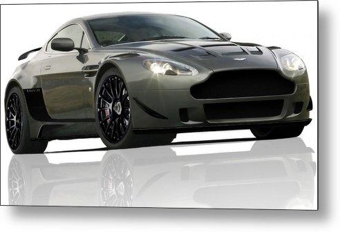 Aston Martin Lmv/r Metal Print featuring the digital art Aston Martin Lmv/r by Dorothy Binder