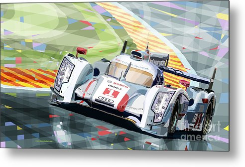Automotive Metal Print featuring the digital art Audi R18 E-tron Quattro by Yuriy Shevchuk
