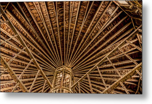 Barn Metal Print featuring the photograph Barn Beams by Stephen Stookey