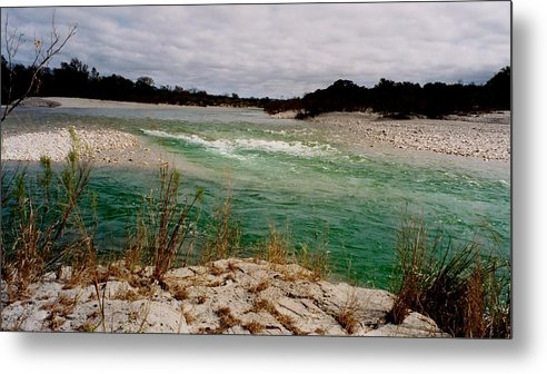 River Metal Print featuring the photograph Blue River One by Ana Villaronga