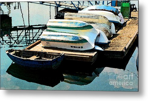Boats Metal Print featuring the photograph Boats In Waiting by Larry Keahey