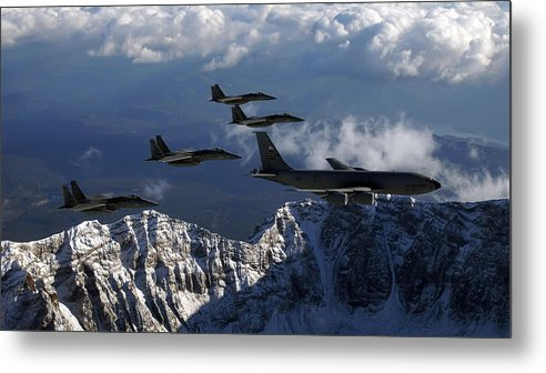 Boeing Kc-135 Stratotanker Metal Print featuring the digital art Boeing Kc-135 Stratotanker by Dorothy Binder