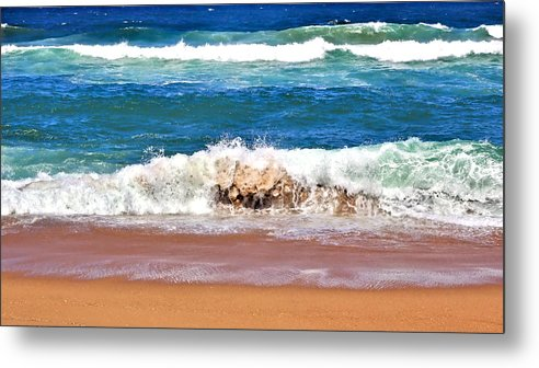 Durban Metal Print featuring the photograph Breaking Waves by Jeremy Hayden