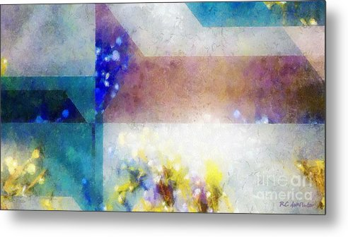 Abstract Metal Print featuring the painting Celestial Navigation by RC DeWinter