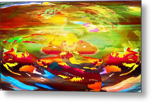 Chaos Metal Print featuring the digital art Chaos by Mike Breau