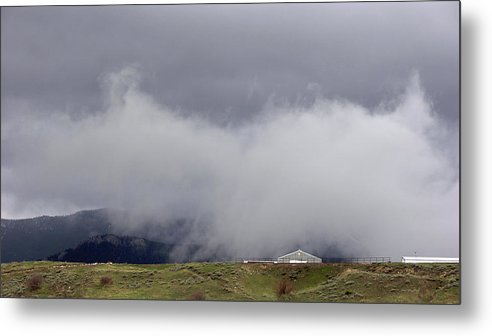Nature Metal Print featuring the photograph Clouds Over The Mountains 2 by Janis Beauchamp