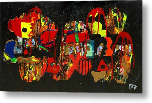 Abstract Metal Print featuring the painting Collage 1 by Paul Freidin