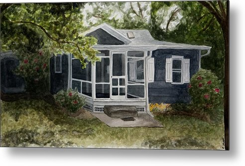 Cottage Metal Print featuring the painting Cottage by Laura Shoop