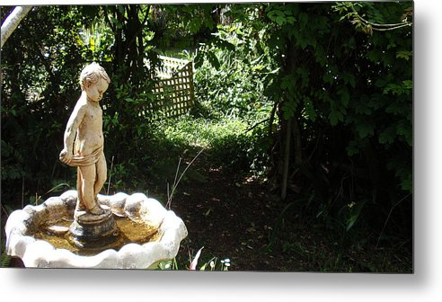 Cupid Metal Print featuring the photograph Cupid Of The Garden by Edan Chapman