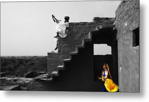 Rajat Ghosh Metal Print featuring the photograph Desert Dance by Rajat Ghosh
