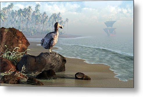 Dodo Metal Print featuring the digital art Dodo Afternoon by Daniel Eskridge