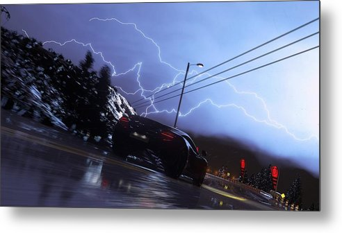 Driveclub Metal Print featuring the digital art Driveclub by Dorothy Binder