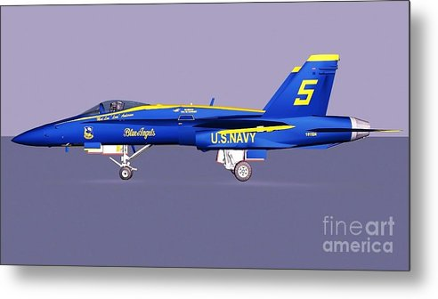 F18 Super Hornet Metal Print featuring the photograph F18 Super Hornet by Stanley Morganstein