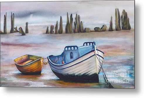 Ocean Metal Print featuring the painting Fish Another Day by Jany Schindler