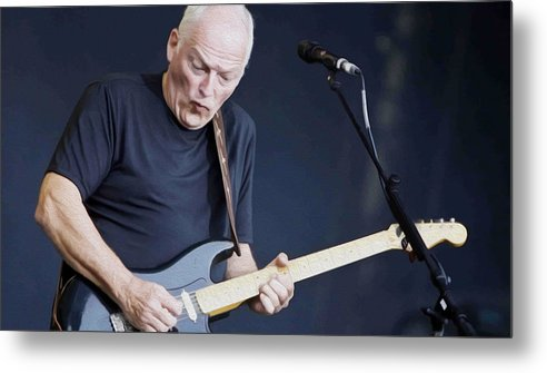 David Gilmour Metal Print featuring the painting Gilmour #003 By Nixo by Never Say Never