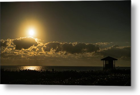 Florida Metal Print featuring the photograph Golden Sunrise Glow Delray Beach Florida by Lawrence S Richardson Jr