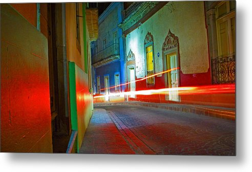 Shadow Metal Print featuring the photograph Guanajuato Night by Skip Hunt
