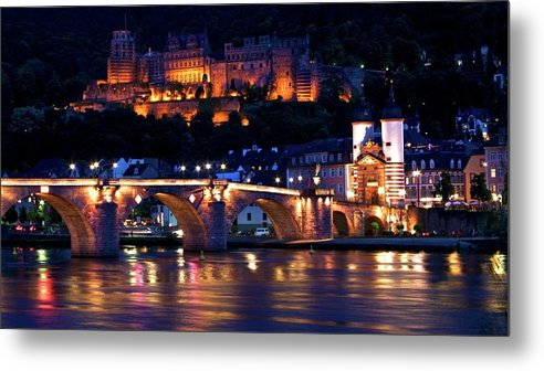 Heidelberg Metal Print featuring the photograph Heidelberg At Night by Rossi I