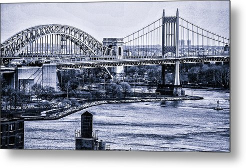 Nyc Metal Print featuring the photograph Hells Gate Bridge Triborough Bridge by Tommy Parker