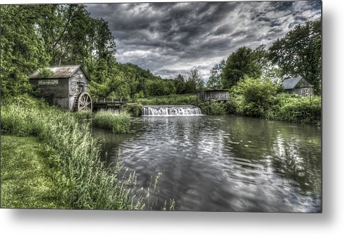 Mill Metal Print featuring the photograph Hyde's Mill by Brad Bellisle