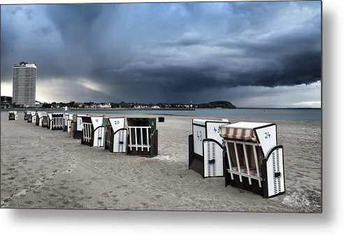 Beach Metal Print featuring the photograph Incoming by Dave Byers