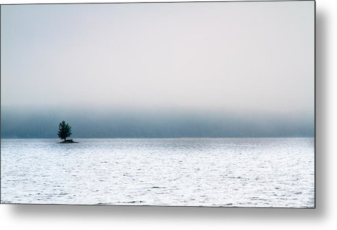 Auburn Metal Print featuring the photograph Island In The Fog by Bob Orsillo