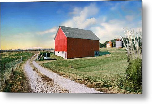 Barn Metal Print featuring the photograph Kansas Landscape II by Steve Karol