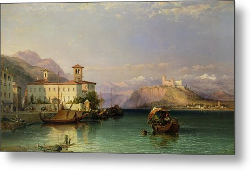 Arona Metal Print featuring the painting Lake Maggiore by George Edwards Hering