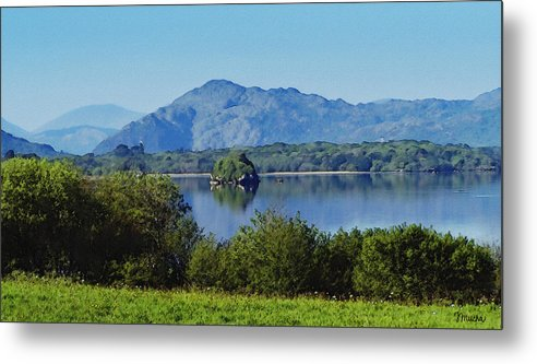 Irish Metal Print featuring the painting Loch Leanne Painting Killarney Ireland by Teresa Mucha