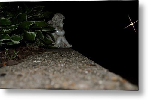 Star Metal Print featuring the photograph Lonely Little Angel by Brynn Ditsche